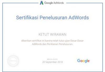 ujian sertifikasi penelusuran google adwords
